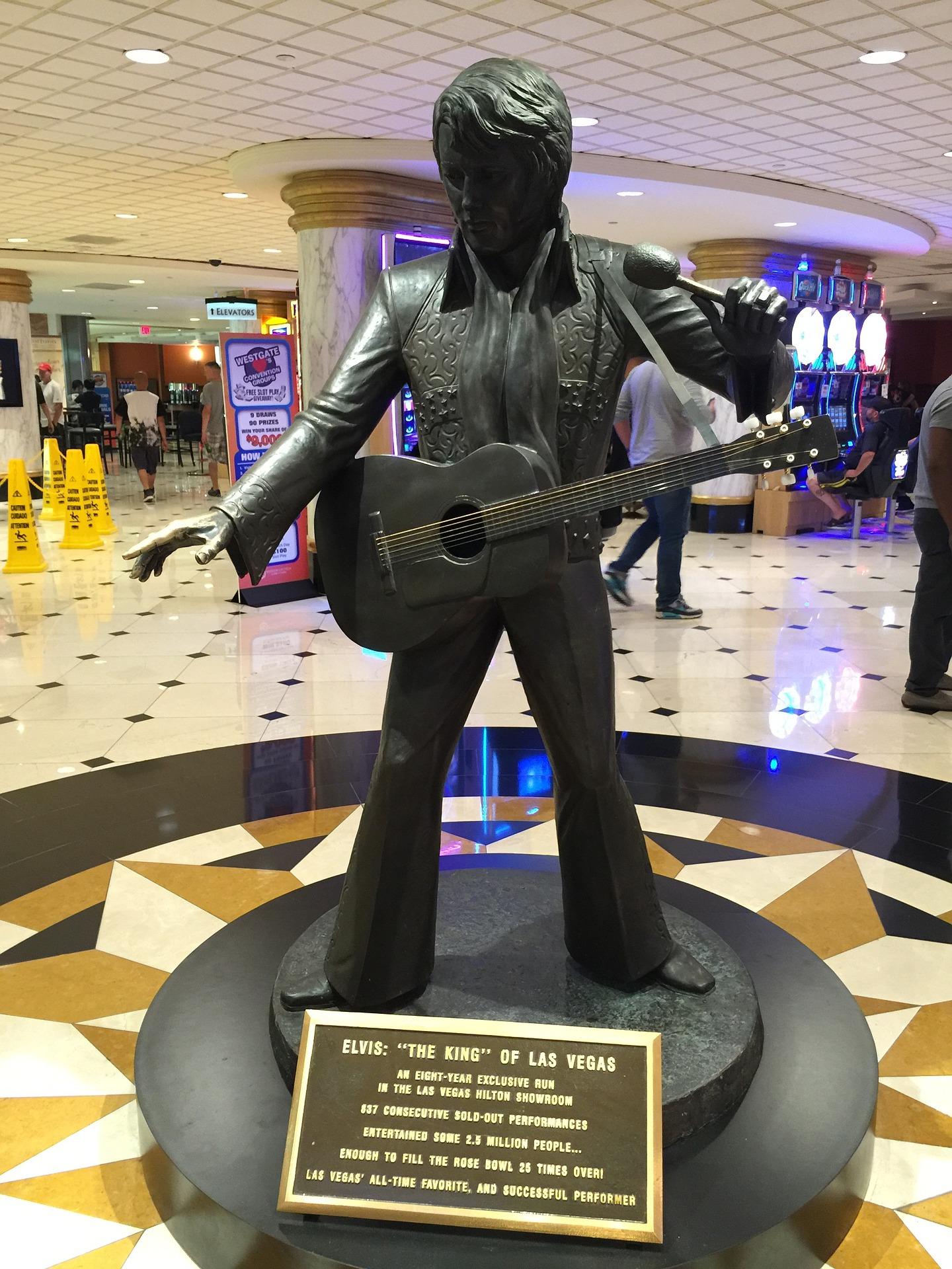 Statue af Elvis i Las Vegas