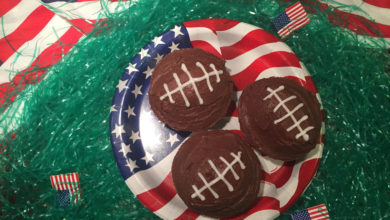 Chokolade Cupcakes til Super Bowl