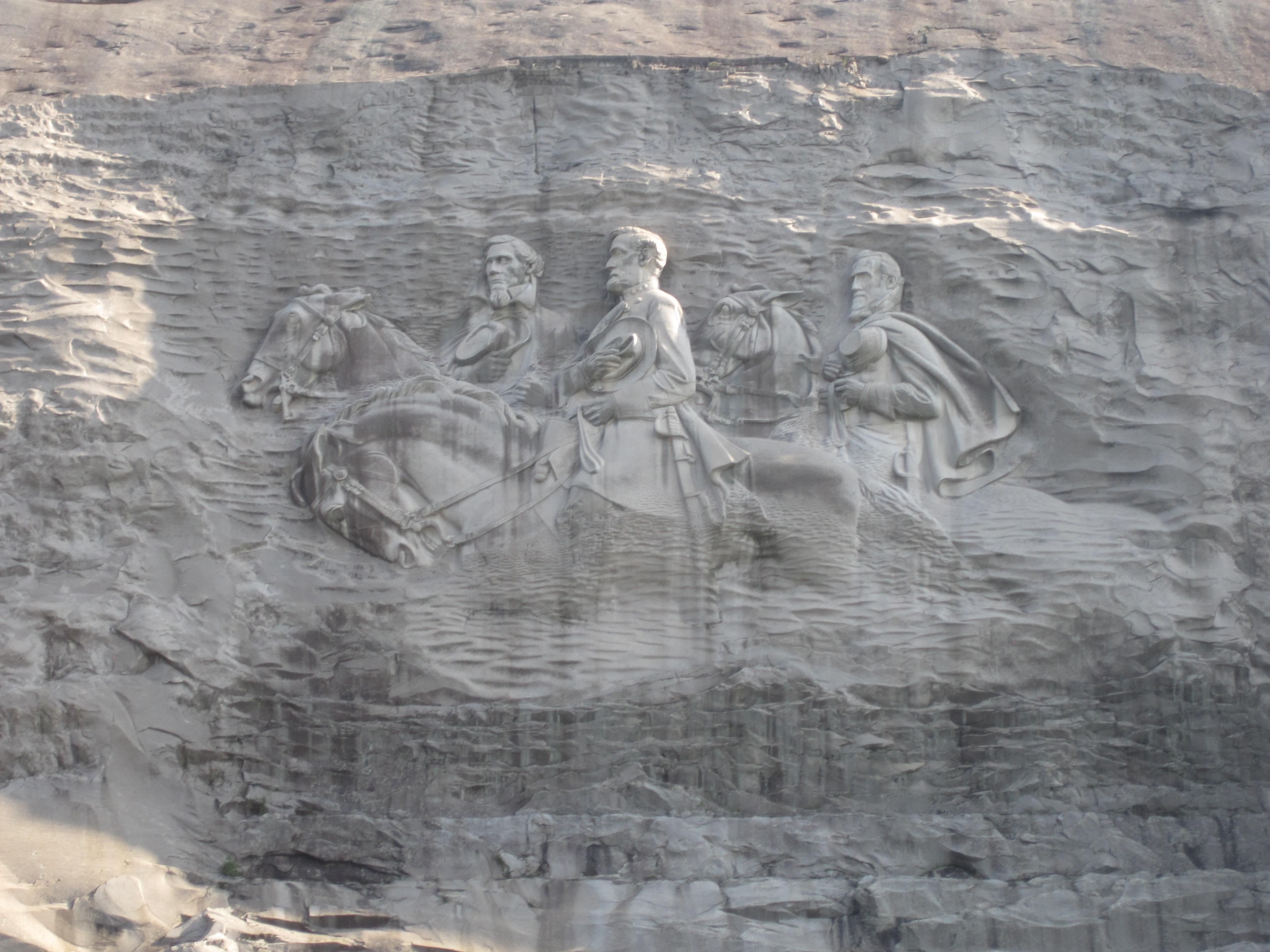 stone mountain relief