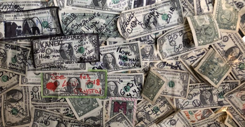 dollar bill bar oatman