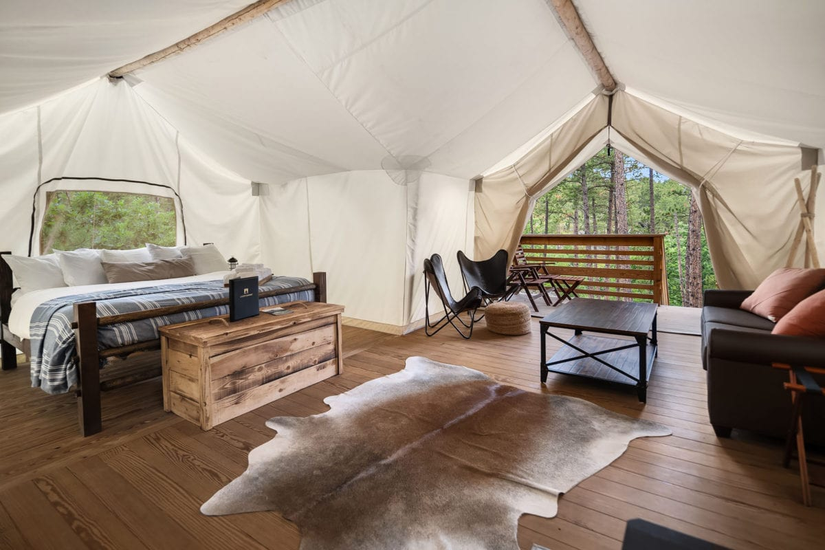 glamping under canvas